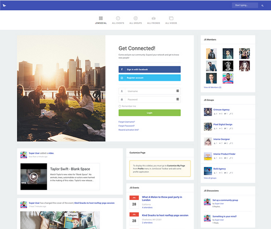 New Jomsocial Theme - JS Column is available for download. The JomSocial Column Theme brings users totally new look and feel for your Social website.